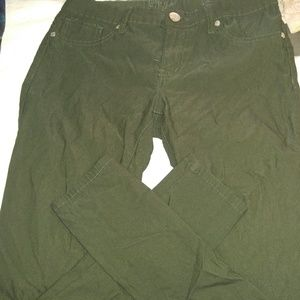 Deep green jeggings